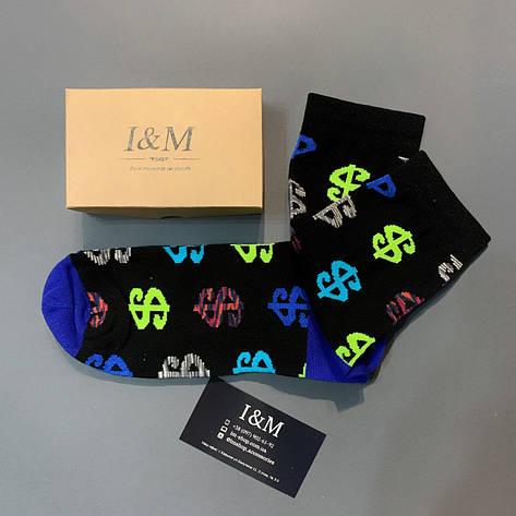 Носки I&M Craft  черные с значком доллара (070306), фото 2