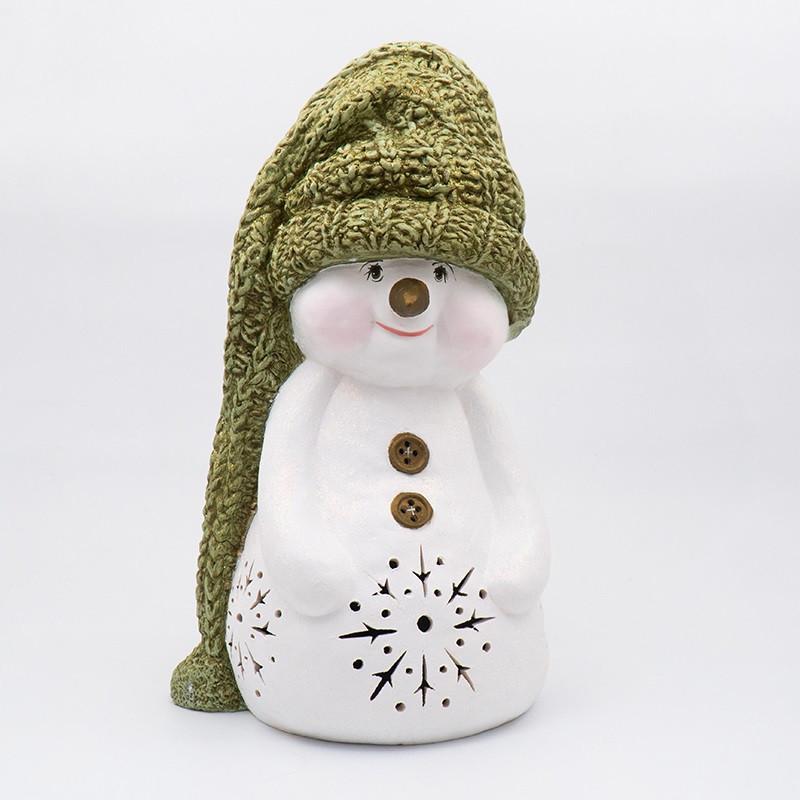 Статуетка LED Польща Villa Grazia Premium Сніговик в капелюсі 51 см (4720-48)