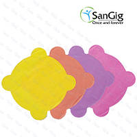 Салфетки для стоматологической чаши плевательницы из спанбонда, разноцветные (уп/50шт)