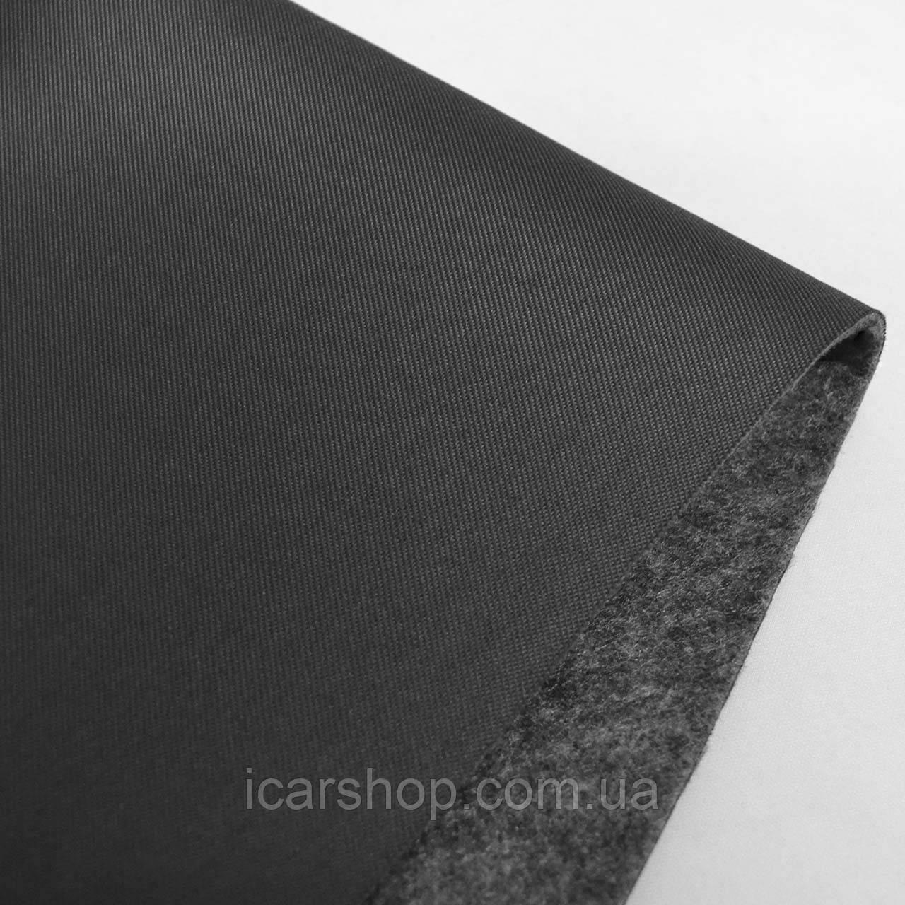 Ткань 418 (1,8м) / Темно-серая / На поролоне 2мм и войлок