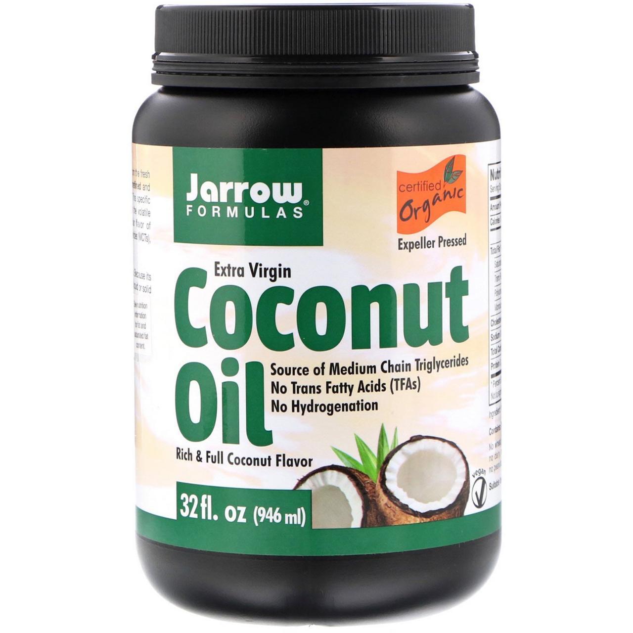 Кокосовое масло натуральное высокой степени очистки, Jarrow Formulas, органическое, 908 г