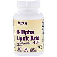 Альфа-липоевая кислота с биотином, Jarrow Formulas, 100 мг, 60
