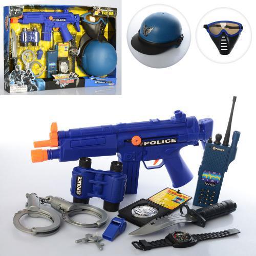 Набор Полицейского для мальчика 33550 маска пистолет бинокль автомат