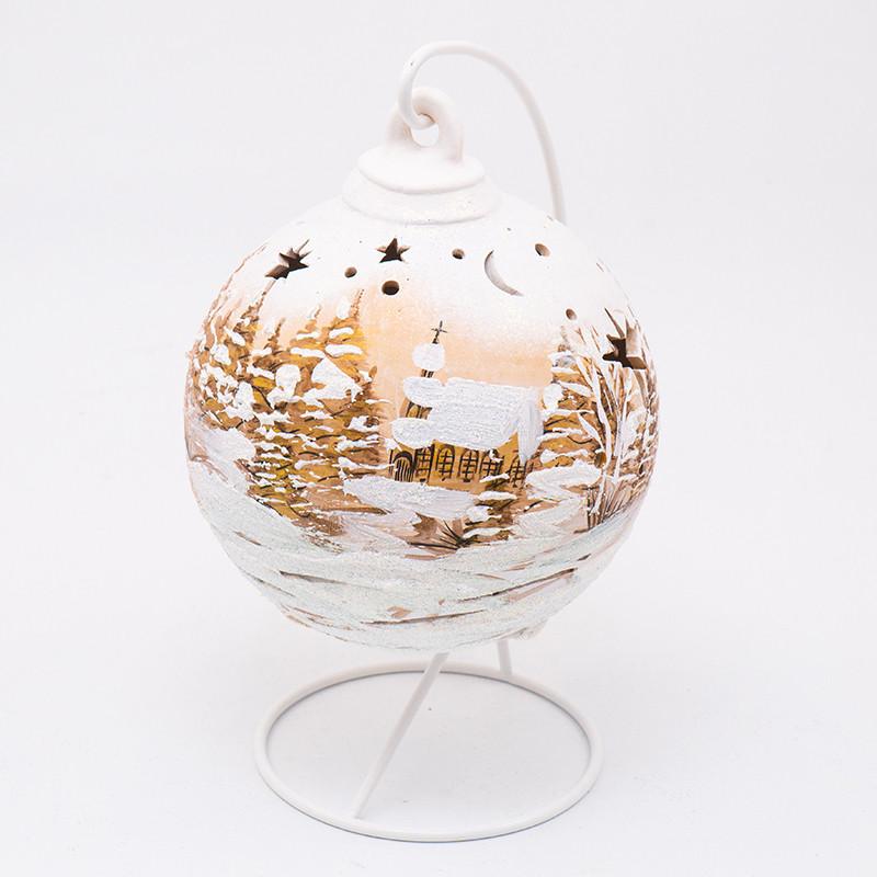 Статуэтка LED Польша Villa Grazia Premium Шарик новогодний 18 см (3040-3)