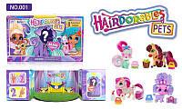 Игрушка для девочек модель Hairdorables Pets, в коробке 24 разноцветные фигурки животных
