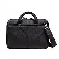 Кожаная сумка для ноутбука 13 дюймов Issa Hara B33 (11-00) - Черная