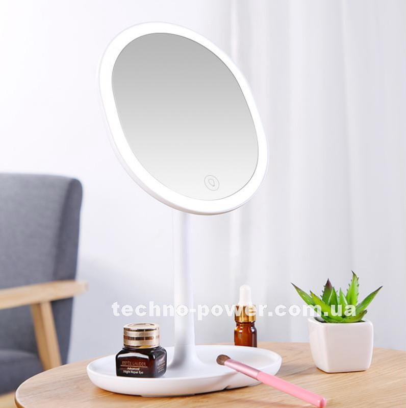 Зеркало косметическое настольное Joyroom Beauty Series JR-CY268 с  LED подсветкой. Зеркало для макияжа