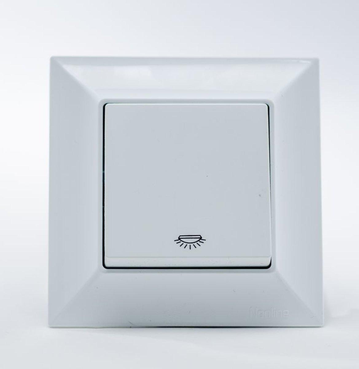 Кнопка контроля освещения  GUNSAN Neoline Белая