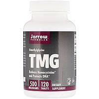 Триметилглицин, Jarrow Formulas, ТМГ (TMG), 500 мг, 120 таблеток