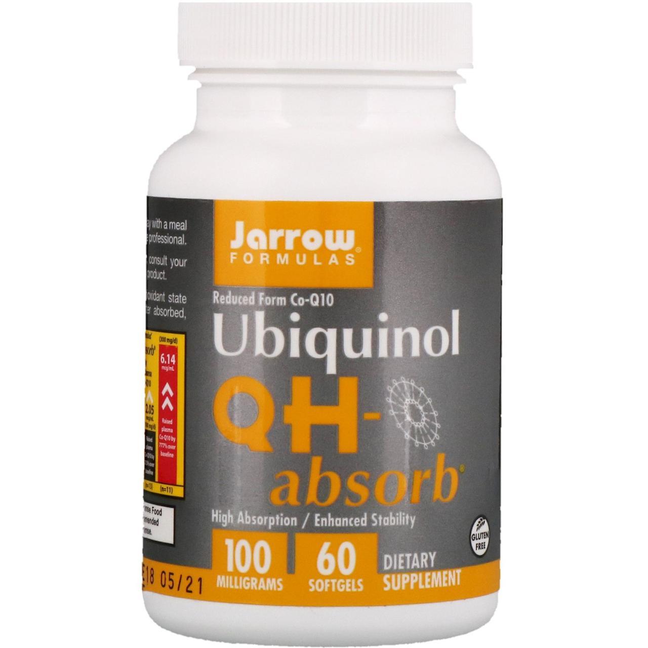 Убихинол, Jarrow Formulas, 100 мг, 60 капсул