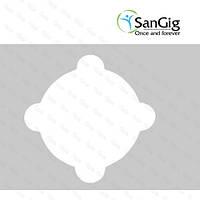 Салфетки для стоматологической чаши плевательницы из спанбонда, белые (уп/50шт)