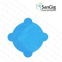 Салфетки для стоматологической чаши плевательницы из спанбонда, голубые (уп/50шт)