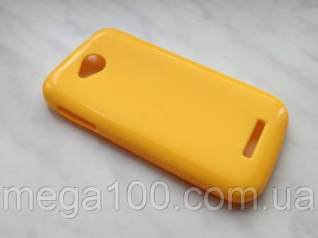 Чохол + захисна плівка для смартфона lenovo A706 колір жовтий!