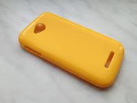Чехол + защитная пленка для смартфона lenovo A706 цвет желтый!
