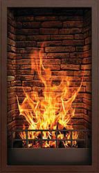 Інфрачервоний настінний обігрівач-картина ТРІО 400W 100х57 см, камін 3D