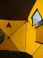 Палатка зимняя в виде куба тип ATLANT 180х180х205 см универсальная без дна со сьемными силиконовыми окнами