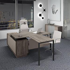 Комплект стол офисный с брифингом + комод Promo Top Manager t30 TM Salita