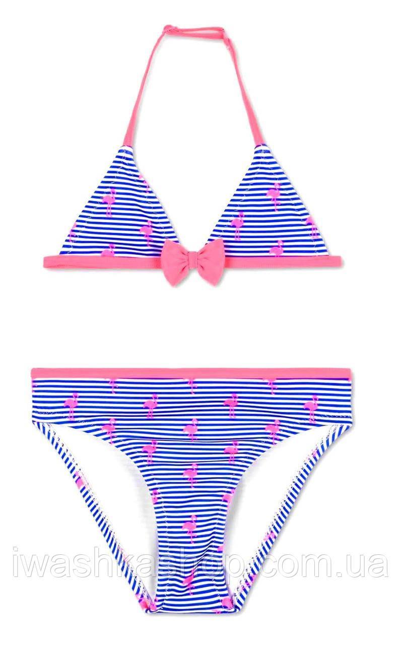 Полосатый раздельный купальник с фламинго на девочек 4 - 6 лет, р. 110 - 116, C&A