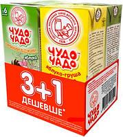 Сок Чудо-Чадо Яблочный 2 х 200 мл + Яблочно-грушевый с мякотью 2 х 200 мл