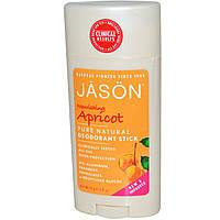 Дезодорант, питательный абрикос, Jason Natural, 71 г