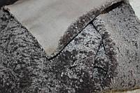 Искусственный мех мраморный, плотный тяжелый, №3011 цвет серый, фото 1