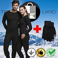 Два комплекта термобелья мужское/женское + 2 пары сенсорных перчаток - 25°С по норвежской технологии