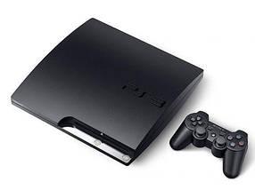 Sony Playstation 3 Slim 1000GB (1TB, БУ) + игры