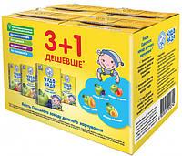 Сок Чудо-Чадо 3+1 Яблоко-Персик, Слива-Яблоко, Яблоко-Груша, Яблоко-Абрикос 0.2 л х 4 шт