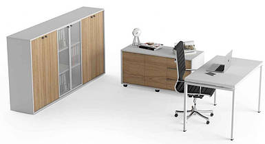 Комплект стол офисный + тумба + шкаф  Promo t26 TM Salita