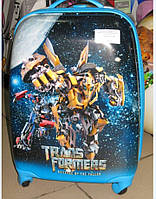 "Детский чемодан 16"" на колесах Transformers, фото 1"