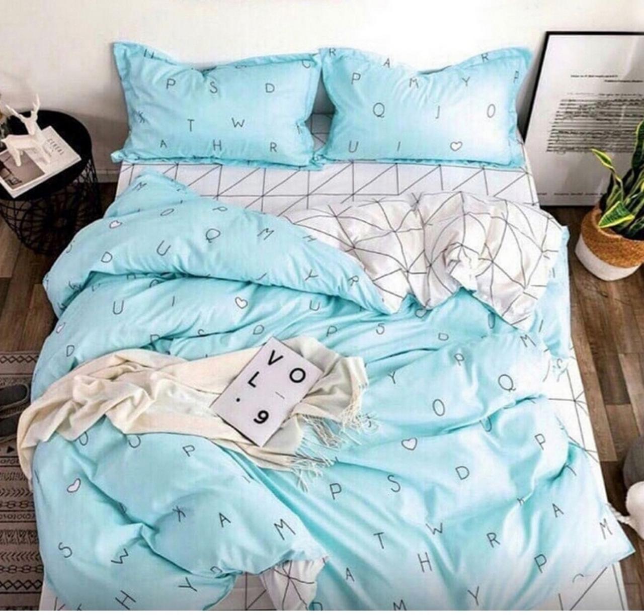 Двуспальный размер постельного белья Бязь Буквы
