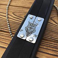Кожаный браслет с гравировкой на заказ. Браслет кожа + сталь. Лазерная гравировка