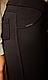 Лосины брючные НА МЕХУ черные размер L,XL,52,54,56,58, фото 3