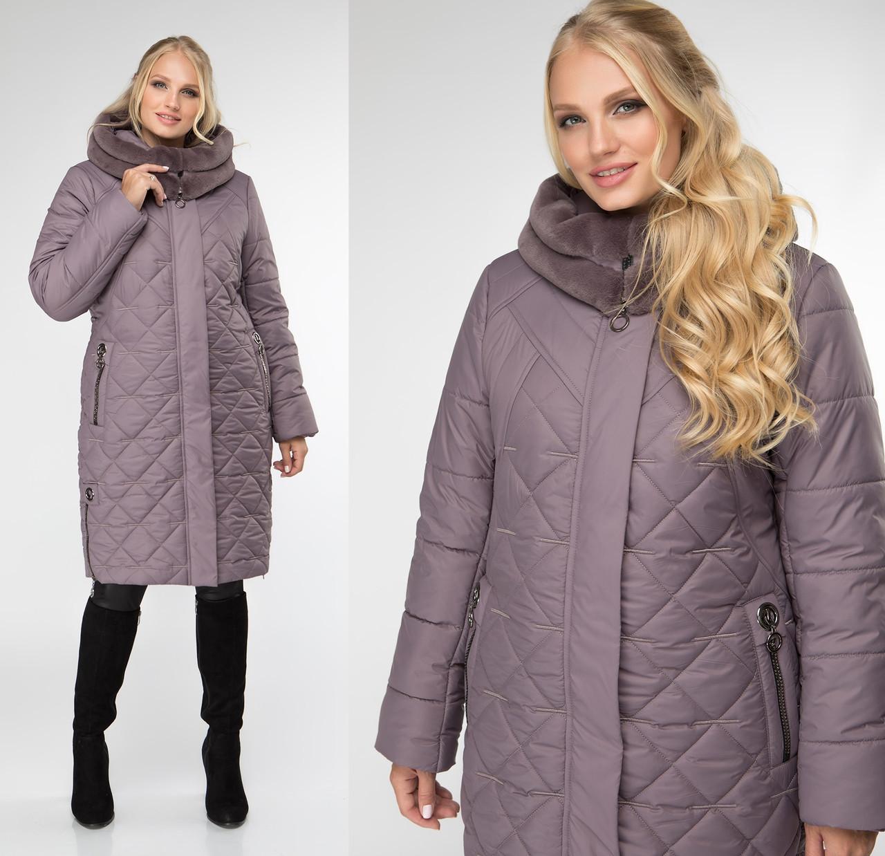 Теплая куртка женская зимняя батальная (батал)