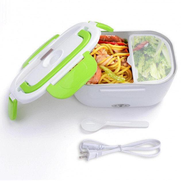 Ланч-бокс з підігрівом від мережі 220V Electric lunch box, термос (Салатовий)