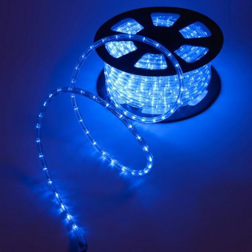 """Уличная Герметичная Светодиодная гирлянда Дюралайт """"Rope Light"""" 50 метров Синий, 900 LED прозрачный силиконовы"""