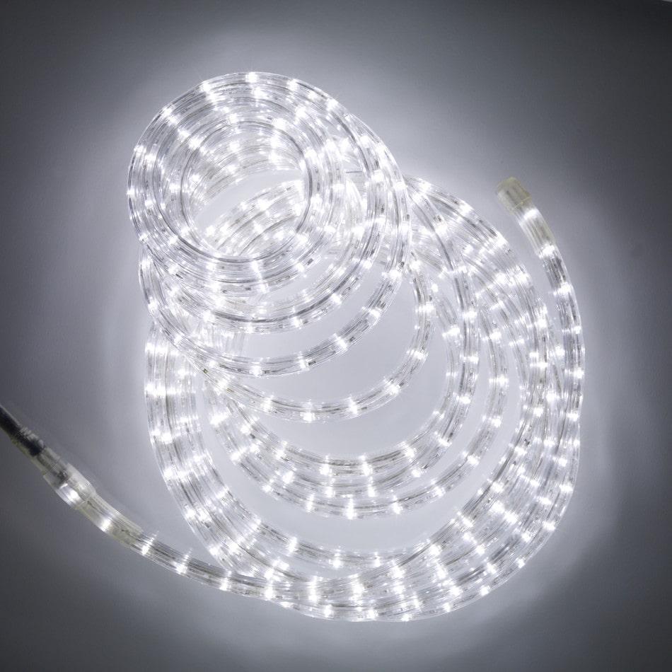 """Наружная Герметичная LED гирлянда Дюралайт """"Duralight"""" 50 метров Белый, 900 Ламп прозрачный силиконовый шланг,"""