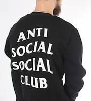 Свитшот чёрный с принтом assc   кофта Anti Social Social Club Games