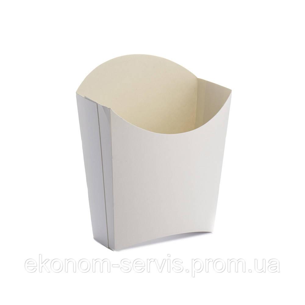 Упаковка картонная для картофеля фри, маленькая 85*98, 25 шт