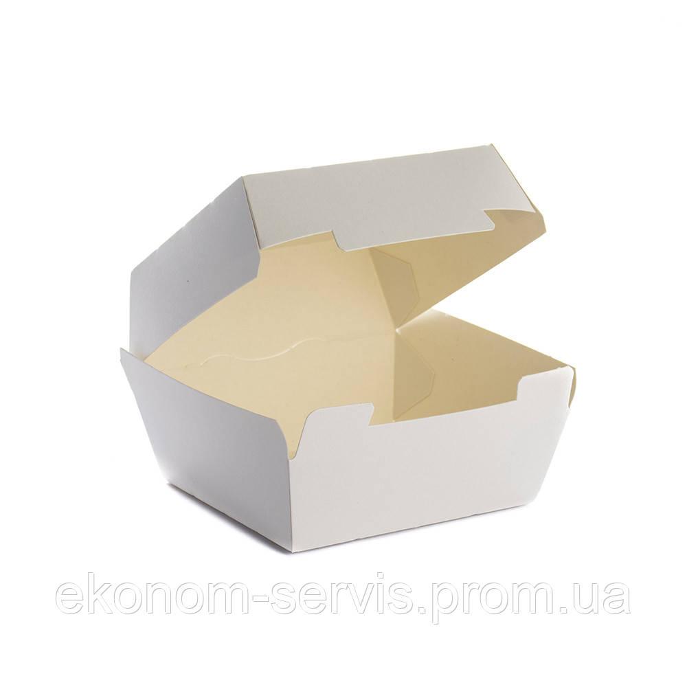 Упаковка картонная для бургеров, маленькая 110*110*70, 25 шт
