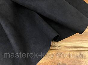 Кожа искусственная Замша VIP т.1,2 мм Италия цвет черный