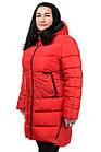 Женская зимняя куртка Модель №89 (красный), фото 3