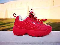 Кросівки Fila Disruptor 2 All Red жіночі зимові червоні