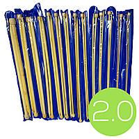 Спицы для вязания №2.0 (350mm) бамбуковые