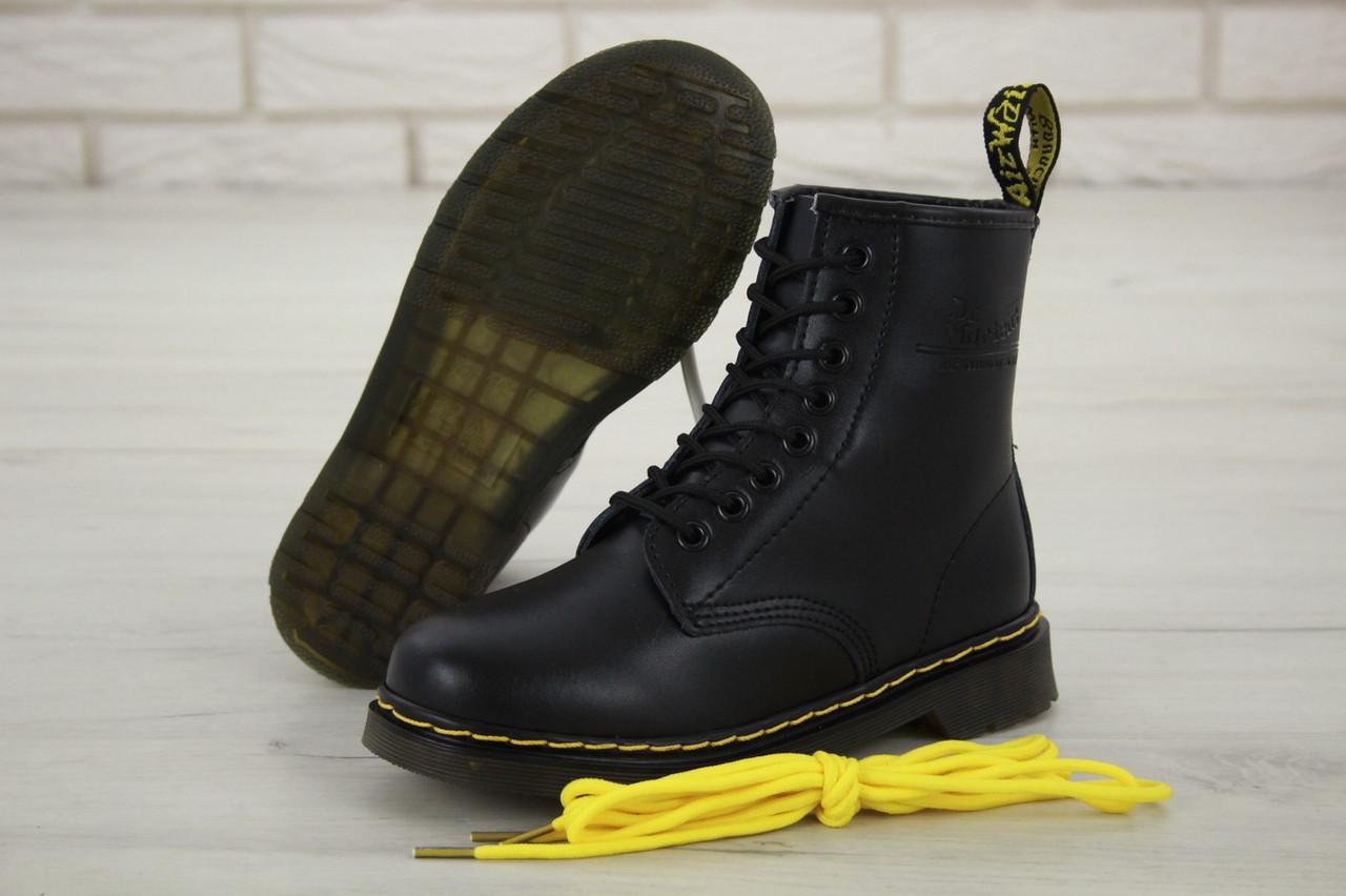 Зимние мужские ботинки dr.martens black. ТОП Реплика ААА класса.
