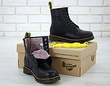 Зимние женские ботинки dr.martens black. ТОП Реплика ААА класса., фото 2