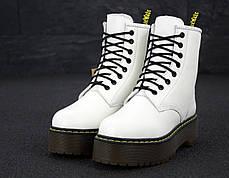 Женские ботинки Dr.Martens Rad JADON кожа, ЗИМА белые. ТОП Реплика ААА класса., фото 3
