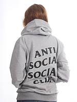Толстовка с принтом Anti social social club | худи assc лого