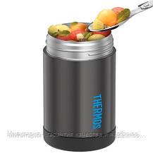 Термос фирмы термос для еды с ложкой( Thermos) Funtainer Food Jar Charcoal New (123021) 470 мл, фото 2