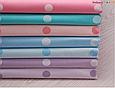 Сатин (хлопковая ткань)   крупный фиолетовый горох (лоскут 55*160), фото 3